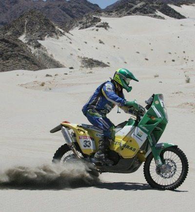 Jean em ação no deserto