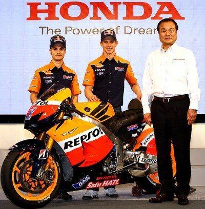 Casey Stoner e Dani Pedrosa marcaram presença na apresentação desportiva da Honda Racing 2012 em Tóquio nesta sexta-feira, 3 de fevereiro, representando o MotoGP™ no prestigiado evento anual.
