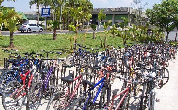 Bicicletário do Aeroporto de Guarulhos: ainda há espaço