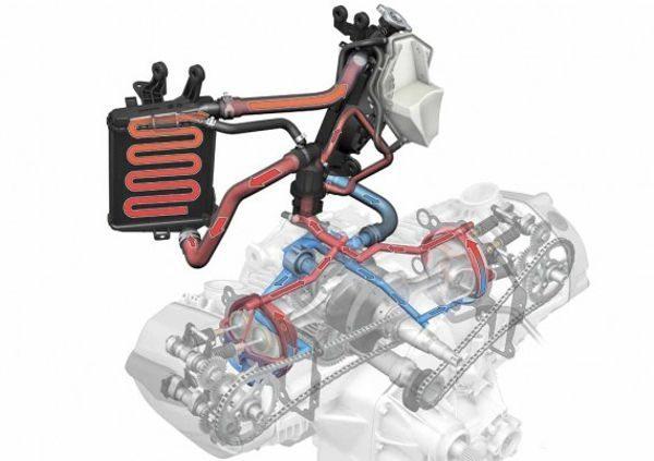 Motor BMW da série Boxer utiliza desde 2013 um sistema adicional de arrefecimento a líquido para melhorar o desempenho e também atingir as novas normas anti-poluição