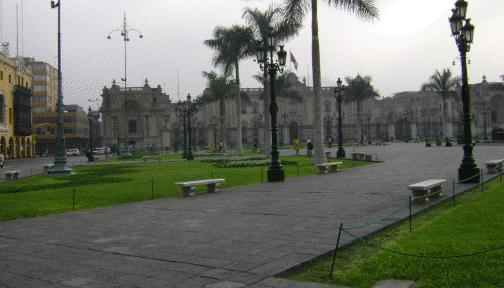 Paisagem antiga da capital Peruana