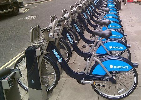 Bicicletas de aluguel em Londres (Inglaterra)