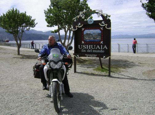 Esta foto é o carimbo de quem vai a Ushuaia