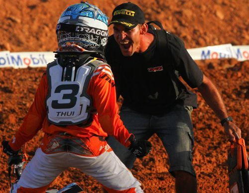 Arthur Todeschini, piloto da categoria 65cc na Superliga Brasil de Motocross 2012