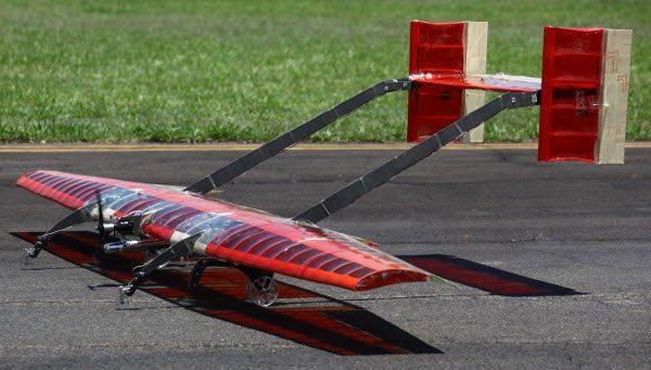Aeronave da equipe paulista Leviatã, do ITA, tem 6 m de envergadura