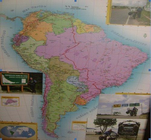 Mapa do roteiro da viagem