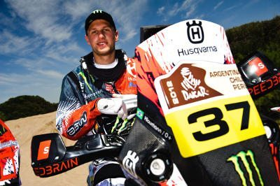 Ike Klaumann antes da largada do Rally Dakar