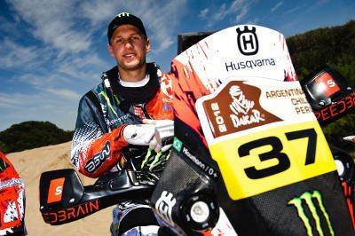 Ike Klaumann antes da largada do Rally Dakar