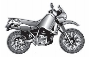 Para terra uma trail, on-off road ou dual sport