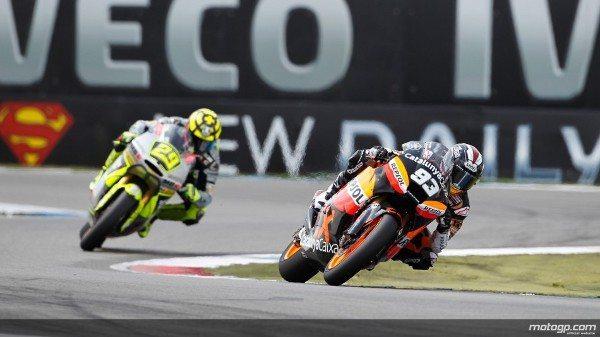 Marc Márquez, da CatalunyaCaixa Repsol, foi quem levou a melhor na acidentada corrida de Moto2™ do Iveco TT Assen após árdua batalha, levando a melhor sobre Andrea Iannone e Scott Redding