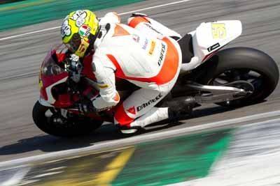 José Luiz Teixeira, Cachorrão, piloto da Equipe Honda Mobil na categoria Superbike Pró, no SuperBike Series 2012