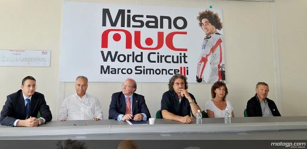 A apresentação do novo logotipo que liga o circuito de Romagna ao falecido Marco Simoncelli teve lugar na semana passada no Misano World Circuit. O logo foi revelado numa conferência de imprensa onde Paolo Simoncelli, pai de Marco, também esteve presente.