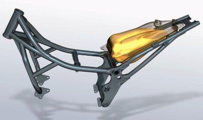 Chassi tubular usa o motor como parte da estrutura