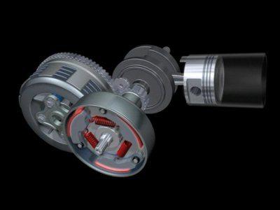 O motor da Biz 100 tem a mesma mecânica consagrada das outras Biz. Embreagem centrífuga para arrancar e outra, acionada pelo pedal do câmbio para mudança de marchas
