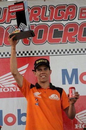 Ismael Rojas, piloto satélite Honda no Brasileiro de MX