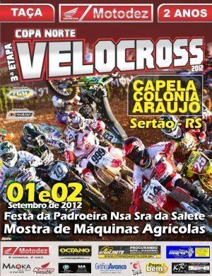 3ª etapa da Copa Norte de Velocross em Sertão (RS)