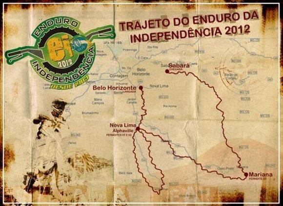 Mapa do roteiro do Enduro da Independência 2012