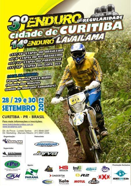 Enduro Lavailama Curitiba cartaz