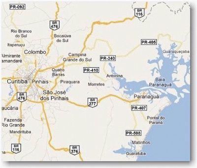 Como chegar à cidade de Paranaguá/PR