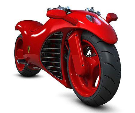 Conceito futurístico de motocicleta Ferrari