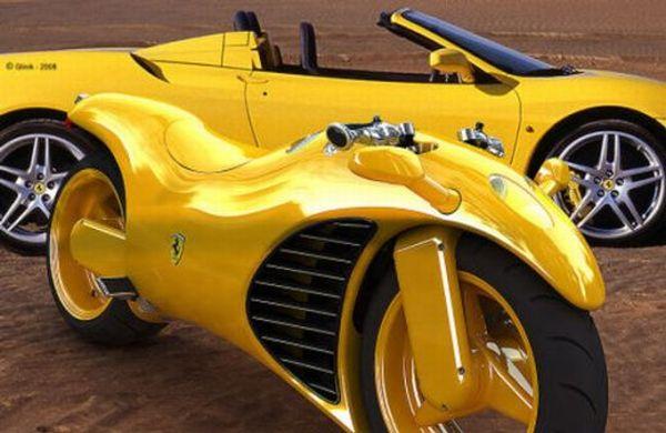Ao lado da Ferrari Enzo, que serviu de inspiração