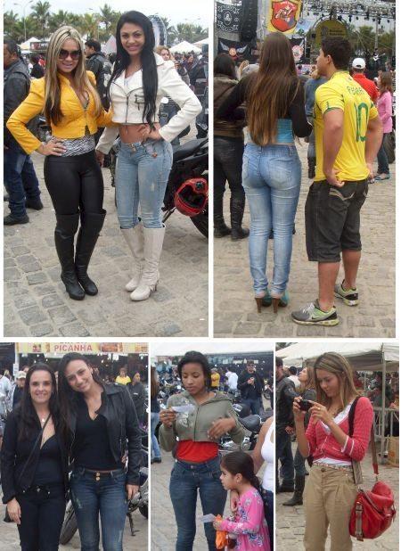"Garotas bonitas ""iluminando"" o Paranaguá Motos"