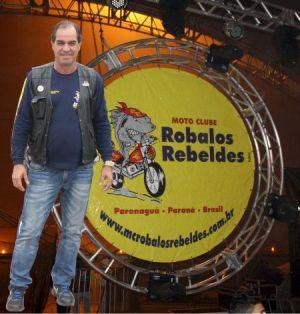 Carlos Roberto (beto), presidente do MC organizador do Paranaguá Motos