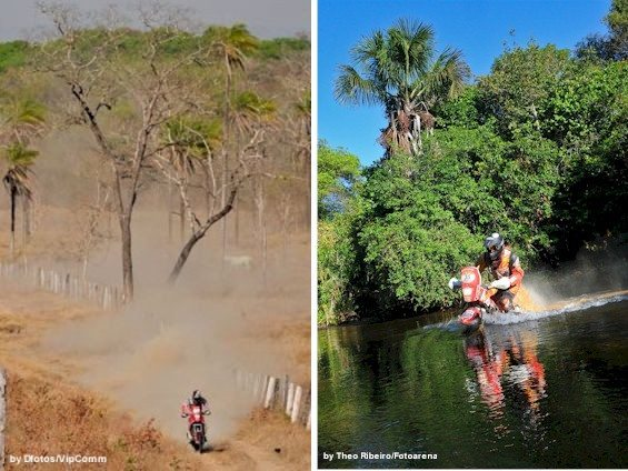No meio do nada no Tocantins - Vários riachos no caminho