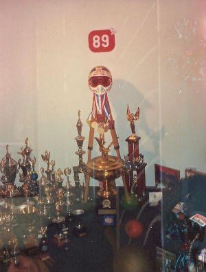 Em 1988, Saçaki já tinha uma coleção de troféus