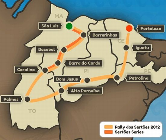 O Sertões Séries foi disputado apenas nos 4 primeiros dias do Rally dos Sertões