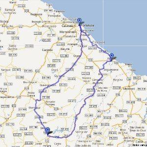 Quase uma volta inteira em torno do Ceará testando a Versys