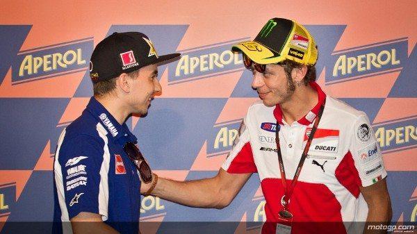 Jorge Lorenzo, da Yamaha Factory Racing, afirmou que o regresso de Valentino Rossi à formação em 2013 lhe dará motivação extra e que está muito contente por voltar a ter o italiano como companheiro de equipa.