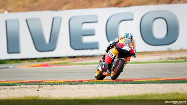 Numa emocionante corrida no Grande Prémio Iveco de Aragão, Dani Pedrosa, da Repsol Honda Team, triunfou de forma dominadora em casa batendo Jorge Lorenzo e Andrea Dovizioso.