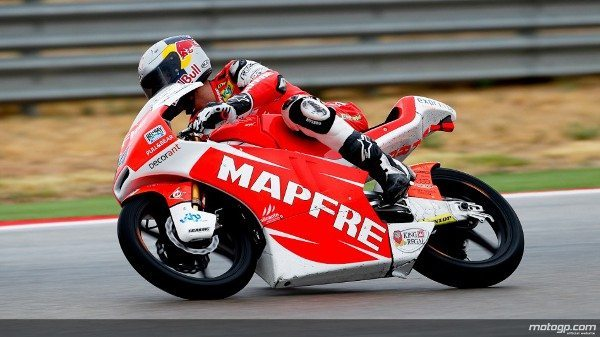 A grelha da Moto3™ viu a pista continuar a secar durante a qualificação para o Grande Prémio Iveco de Aragão, onde Jonas Folger, da Mapfre Aspar Team Moto3, a disparar para a primeira pole em GPs, à frente de Luis Salom e Sandro Cortese.