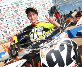 Enzo Lopes, campeão da categoria 150cc (antiga 85cc)