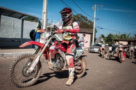 Dário Júlio, piloto da Equipe Honda Mobil na 30ª edição do Enduro da Independência