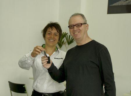 Odil Rodrigues Pereira, vencedor do Concurso Cultural Kawasaki Touring
