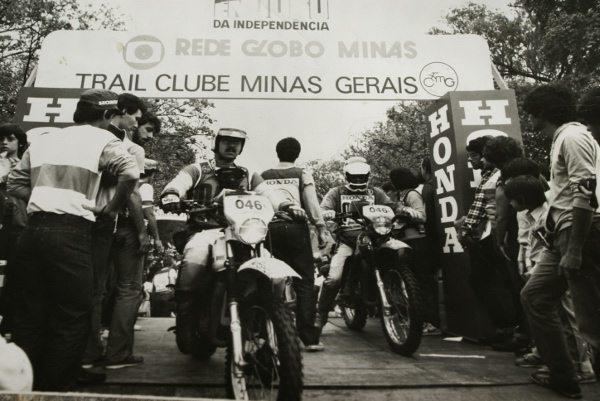 Largada do primeiro Enduro da Independência em 1983