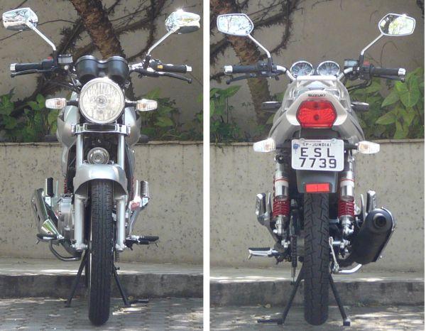 Frente e verso: estilo clássico tira um pouco o ar de modernidade da moto