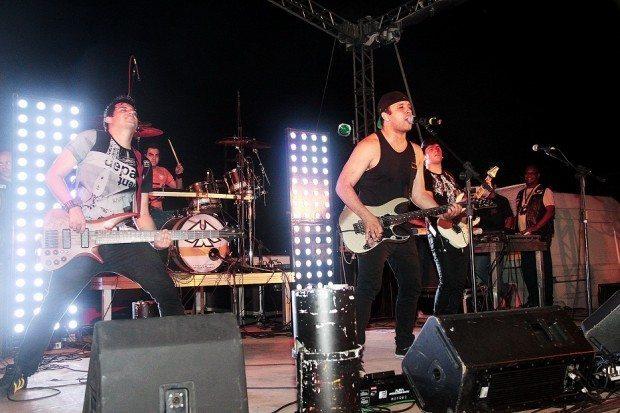 A Banda Faixa Etária se apresenta pela terceira vez no evento da AMP (Foto de Reinaldo Brosler - Riders Of Freedom)