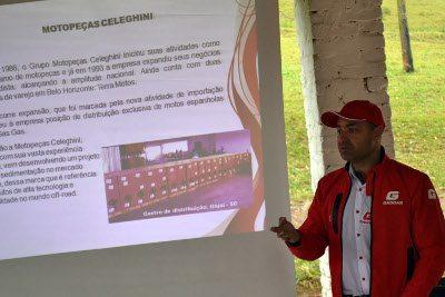 Ricardo Celeghini na apresentação da Gas Gas - Lançamento mundial no Brasil