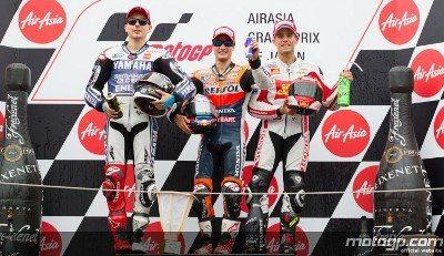 Lorenzo, Pedrosa, Bautista, Yamaha Factory Racing, a Repsol Honda Team, da San Carlo Honda Gresini, Motegi RAC