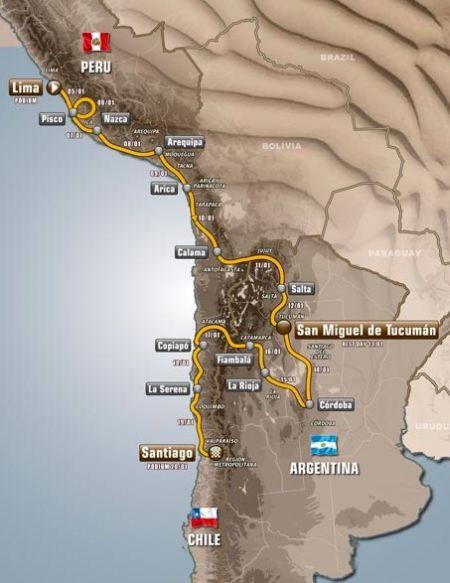 Por onde o Rally Dakar vai passar em 2013