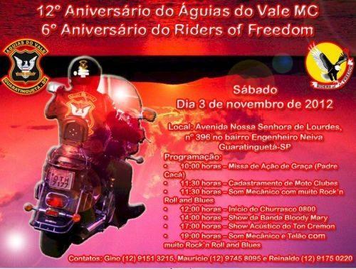 Cartaz com os detalhes da comemoração