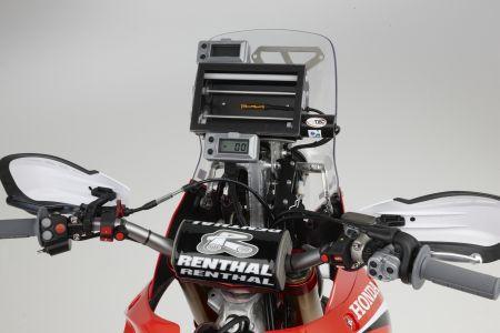 Vista do painel especialmente desenvolvido para as competições de Rally