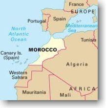 Localização geográfica do Marrocos