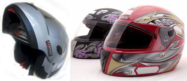 Capacetes Taurus, modelos Zarref e T5, que serão cedidos para uso no Grande Prêmio Brasil de Fórmula 1