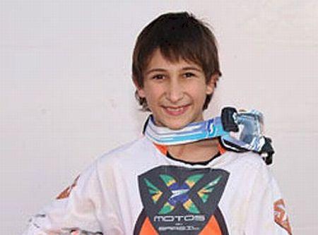 Léo Nunes está a 9 pontos do líder na categoria 65cc