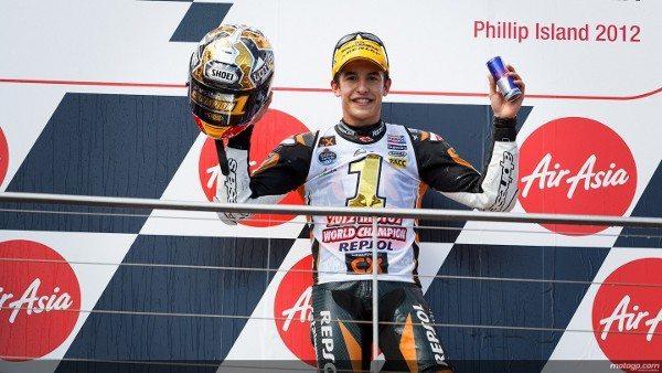 Marc Márquez, do Team CatalunyaCaixa Repsol, tornou-se no AirAsia Grande Prémio da Austrália deste fim-de-semana no quinto espanhol a conquistar o ceptro da categoria intermédia e no primeiro a fazê-lo aos comandos de um chassis Suter.