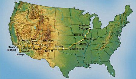O mapa da rota
